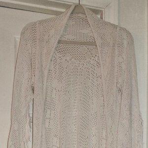 Spell & The Gypsy White Lola Crochet Tassel Coat